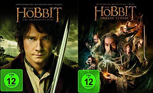 Der Hobbit 1 & 2 : Eine unerwartete Reise + Smaugs Einöde [Blu-ray]