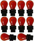 AERZETIX: 10 x Bombillas 12V 3157 W2.5x16Q P27/7W Naranja/Amber