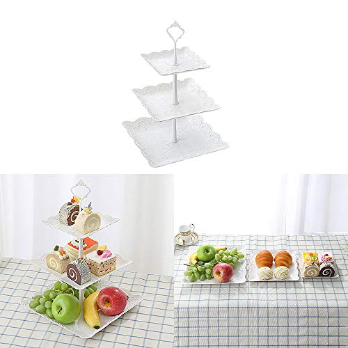 DEBEME - Soporte para Tartas con 3 estantes de plástico para Cupcakes,...