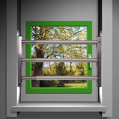 Fenstersicherung Sicherungsstange Türsicherung Einbruchschutz 3Fach 640-1000mm