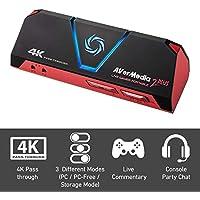 AverMedia Live Gamer Portable 2 Plus - 4K Pass Through, Enregistrez et Streamez vos gameplays en 1080p60, pour PS4 Pro, Xbox One X, Plug&Play, Faible latence avec et sans pc sur carte MicroSD