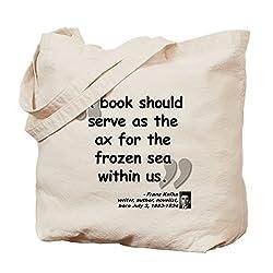 CafePress Einkaufstasche mit Kafka-Buch-Zitat, canvas, khaki, S