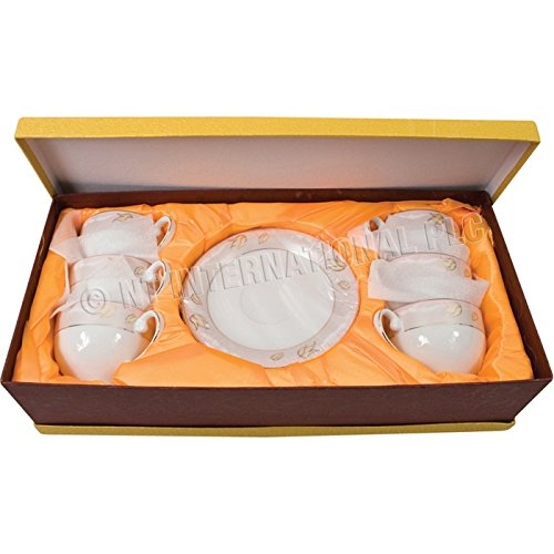 NO.1 COFFEE & TEA PRODUCTS 12PC CUP & SAUCER SET GIFT BOX FINE CHINA TEA CUPS KITCHEN ESPRESSO COFFEE PLATE (PINK) BEST BUY REVIEWS UK