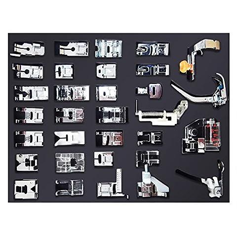 Nuzamas [MIS à jour] 32pièces de machine à coudre Pied
