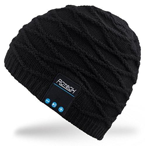 Rotibox Rechargeable Bluetooth Audio Beanie Chapeau...