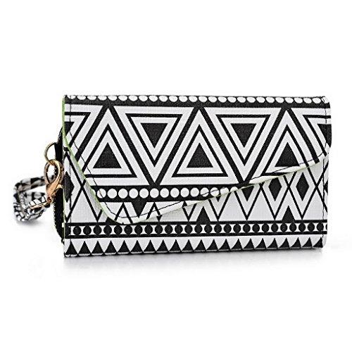 Kroo Pochette/Tribal Urban Style Téléphone Coque pour Samsung Galaxy Core LTE Noir/blanc Noir/blanc