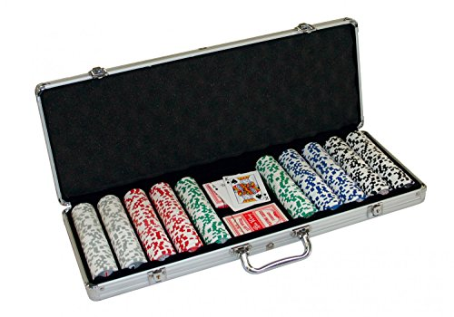 "Pokerchips ""Royal Flush\""als Set mit Chips 500"