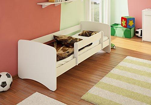 Best For Kids Kinderbett 90x160 MIT RAUSFALLSCHUTZ 44 Designs (Weiß)