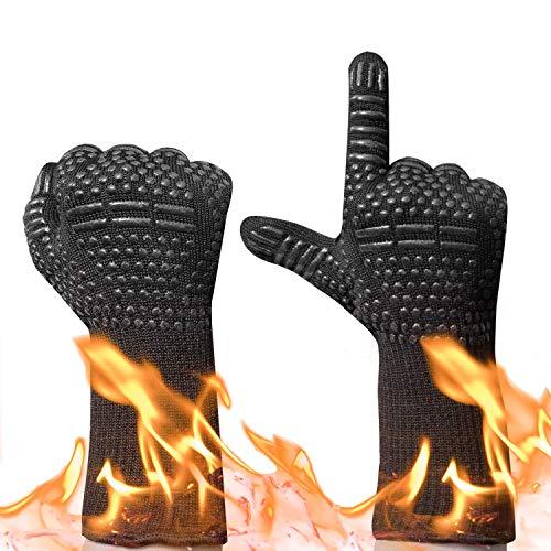 Guantes de Horno,Gudior Guantes de Cocina para Barbacoa BBQ Guantes Resistentes al...