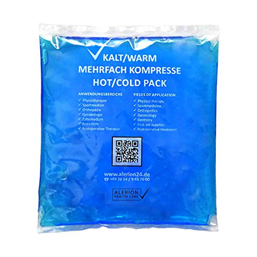 5 Stück 13 cm x 14 cm Kalt-Warm Kompresse Mehrfach kompresse Wiederverwendbar Coolpack Mikrowellen geeignet (Kühl-pad)