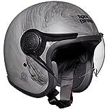 Royal Enfield Metamorph HEAW17004 Open Face Helmet (Matt Grey, XL)