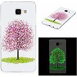 Qiaogle Téléphone Coque - Soft TPU Silicone Housse Coque Etui Case Cover pour Samsung Galaxy A5 (2016) SM-A510 (5.2 Pouce) - XS24 / Sakura Tree