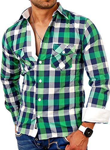 Reslad RS-7060 Herren Freizeithemd Orlando Grün - Grün