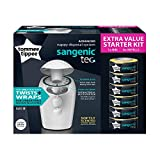 Tommee Tippee Sangenic Tec Nappy Disposal Starter Pack, White