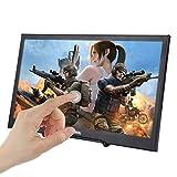 JOHNWILL Monitor portatile da 15.6 pollici touch screen, display LCD/LED IPS Ultra HD 1920 x 1080, interfaccia HDMI/USB,monitor per giochi con altoparlante incorporato,scatola metallica nera