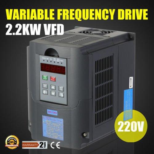 Autovictoria VFD Inversor 220V VFD Drive 2.2KW 3HP Frecuencia Variador