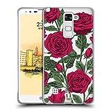 Head Case Designs Rote Variante Rosen Und Wildblumen Soft Gel Hülle für LG Stylus 2