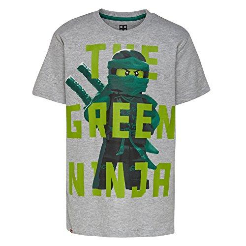 LEGO Wear Jungen Lego Ninjago M-72637-T-Shirt, Grau (Grey Melange 921), 110