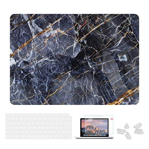 Utryit Hülle Für MacBook Air 13 (2018 Version) A1932 - Ultradünne Schutzhülle Hartschale Snap Case Laptop Matt Cover für Apple MacBook Air 13,3 Zoll mit Retina Display und Touch ID, DDC-014 Hd-kabel-bundle-kit
