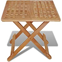 Festnight Table de Jardin en Bois Pliante Table d appoint 50 x 50 x 49 478d27b5b0fc