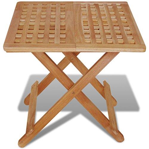 Festnight Table de Jardin en Bois Pliante Table d'appoint 50 x 50 x 49 cm Bois de Noyer Massif