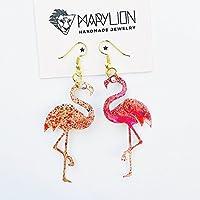 Flamingo tropische Ohrringe – Fl