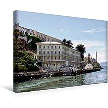 Calvendo Premium Textil-Leinwand 45 cm x 30 cm Quer, Alcatraz | Wandbild, Bild auf Keilrahmen, Fertigbild auf Echter Leinwand, Leinwanddruck Orte Orte
