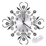 Sunnyday Reloj de Pared Europeo de Hierro Forjado Diamante de Lujo Moda Salón Decord