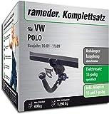 Rameder Komplettsatz, Anhängerkupplung abnehmbar + 13pol Elektrik für VW Polo (145504-04804-1)