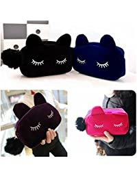 EasyBuy India Pink : Cute Cat Cosmetic Makeup Bag Wallet Purse Storage Bags Pencil Pouch Clutch
