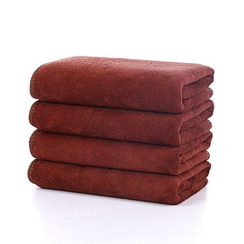 ZYTC Autowäsche Detaillierungstücher Microfiber Polierwachs waschende trocknende Reinigungstuch Tuch Kaffee 30 x 70 cm 5 Stück -
