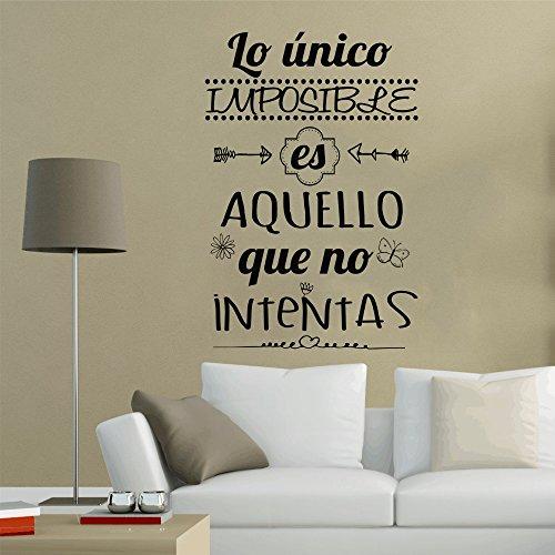 Frase Vinilo Lo Nico Imposible Es Aquello Vinilos