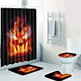 EMG Polyester Faser Badezimmer Vorhang Badezimmer Wolldecken Toiletten Sitz Kissen 16 Stück Satz Kreative Dunkel SeriesⅡ