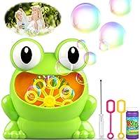 Máquina de Burbujas, Maquina Pompas de Jabon, Portátil Máquina de Burbujas Haga más de 500 burbujas por minuto (grandes ojos forma de rana) Adecuado para ...