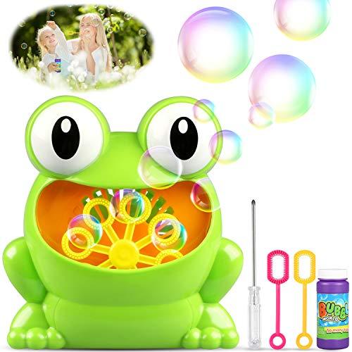 (TedGem Seifenblasenmaschine, Bubble Machine, Tragbares Kinder Bubble Machine Mache über 500 Blasen Pro Minute Passend für Kids Birthday Party, Hochzeit, Weihnachten(Blasenflüssigkeit Nicht Enthalten))