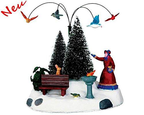 Lemax - Winter Feeding - Animiertes Vogelfüttern - Höhe 17cm - Batteriebetrieben - Christmas Village - Dorf -