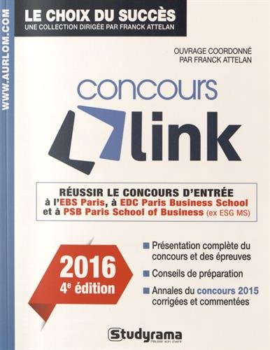 Réussir le concours Link : Concours 2016