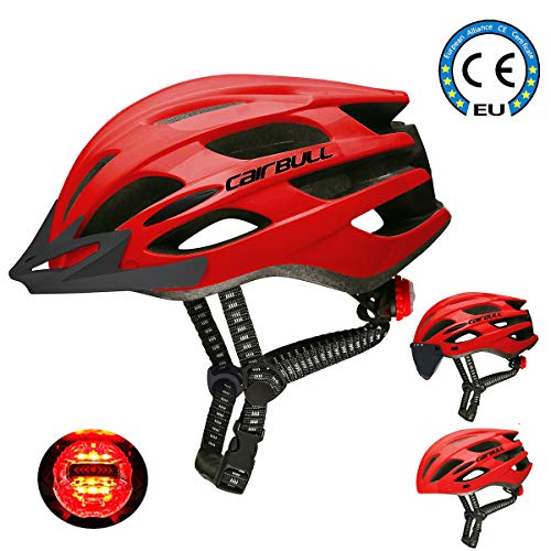 Cairbull Mann/Frauen Fahrradhelm Erwachsene Rennrad Mountainbike Helm ausgestattet mit/Sonnenbrille Visier/Krempe