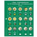 1 x SAFE 7341-9 / 2 EUROMÜNZEN Premium Vordruckblatt Nachtrag 20011 - 2012 + 1x 7393 Ergänzungsblatt Münzhüllen für das SAFE 2 EURO Münzalbum 7341