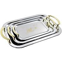In acciaio INOX vassoio set per frutta | Desert, piastra, piatti, set di 3diverse dimensioni 1