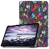 Igemy Ultra Slim Cover Schutzhülle Bumper Lederhülle mit Standfunktion/Auto Sleep Wake up Funktion für Samsung Galaxy Tab A2 10.5 inch T595 (10.5'', G)