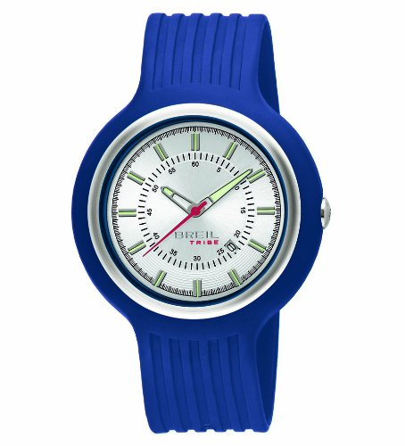 Breil Men's Watch TW0426 With Silver Analogue Dial And Blue Polyurethane Strap
