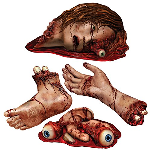 4 Halloween Party Dekoration Blutige Körperteile (Körperteile Für Halloween)