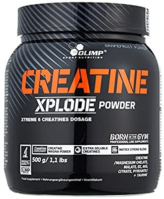 Olimp Creatine Xplode Powder Preworkout Supplement, Grapfruit Flavour from Olimp