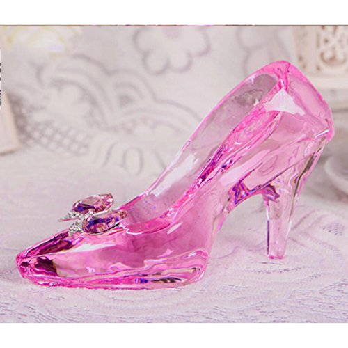 um,Kreative Kristall senden Freundin Urlaub Geschenk 18 - jährige erwachsene Zeremonie Cinderella rosa Kristall Schuhe ()