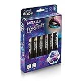Cosmic Moon - Rossetto metallico - 5g - Per labbra straordinariamente metalliche - Cofanetto - Inclusa: Rosa, Oro, Blu, Verde, Argento, Viola