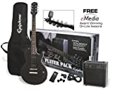 Packs guitare EPIPHONE PACK GUITAR LP SPECIAL II LTD EBONY ET AMPLI ELECTAR 15R Packs guitare électrique