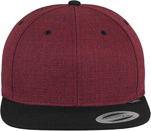 Melange Cap rot weinrot Snapback Hut Mütze Kappe Herren Damen Streetwear Kopfbedeckung Accessoires Trend Fashion