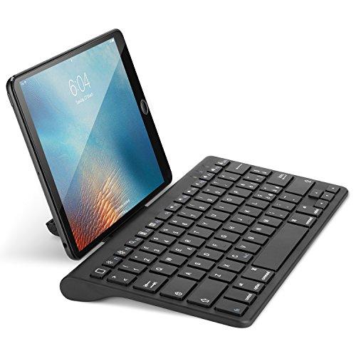 OMOTON Bluetooth Teclado con Soporte ,Sólo Compatible con iPad Pro 10.5 ,iPad 9.7 ,iPad Air y Toda IOS Sistema [La Ñ Incluida] - Negro