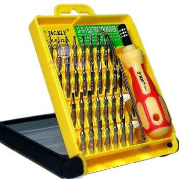 Jackly tool Set JK 6032-A (32-parts) pour Nokia 5110,Nokia 7210,Nokia N85,Nokia 6070,Nokia 8800,Nokia 2300,Nokia 6216 Classic,Nokia C2-01,Nokia 3210,Nokia 6600 Slide,Nokia E71,Nokia 5130 XpressMusic,Nokia 7210 Supernova,Nokia N86 8MP,Nokia 6080,Nokia